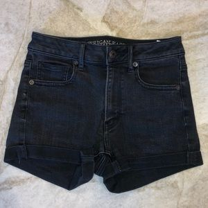 American Eagle Outfitters Black Denim Shorts